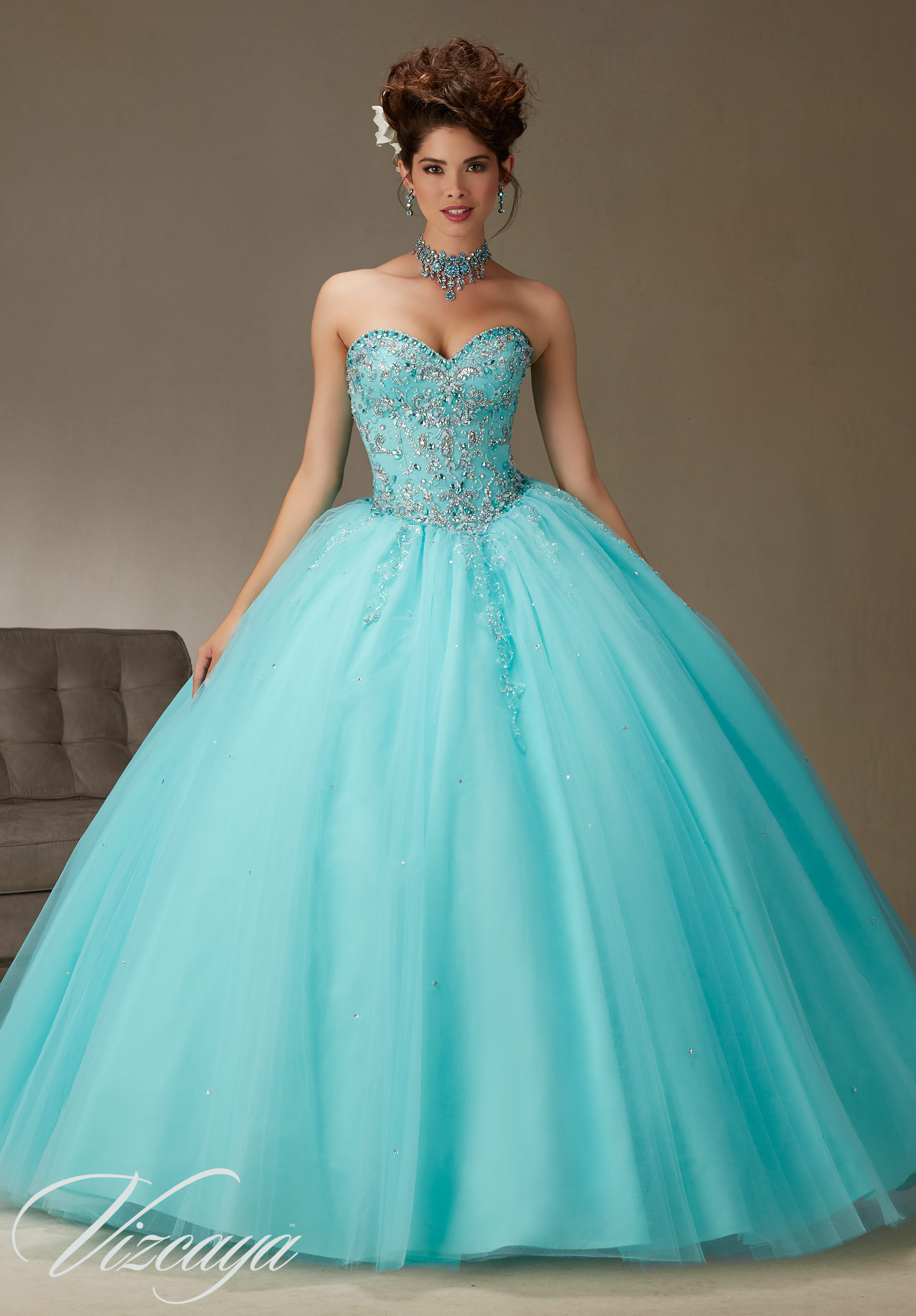 9ee5744823b Quinceanera Dress 89062 TULLE BALL GOWN WITH BEADING